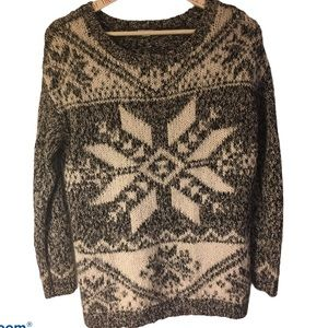 Sweater, Nordic pattern, light weight